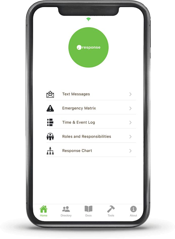 mobile phone with homepage screenshot